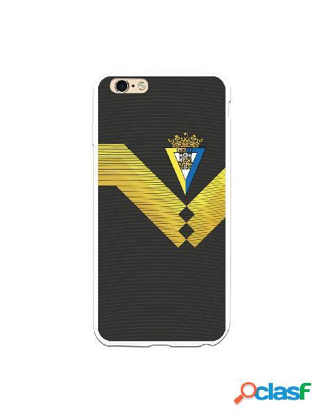 Carcasa para iPhone 6S Plus Cádiz CF Fondo Negro - Licencia