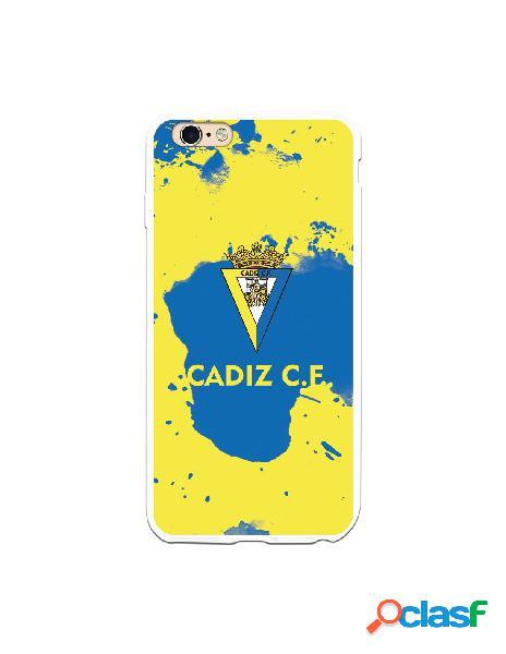 Carcasa para iPhone 6S Plus Cádiz CF Manchas Azules -