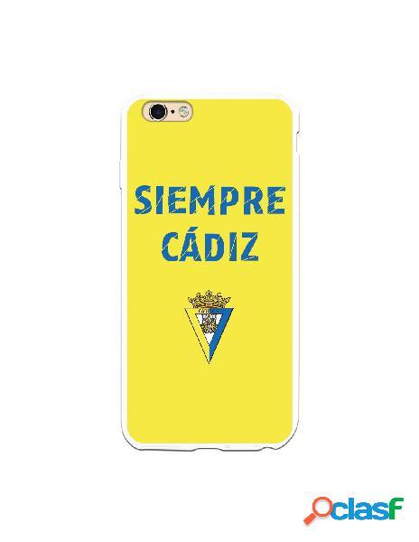 Carcasa para iPhone 6S Plus Cádiz CF Siempre Amarillo -