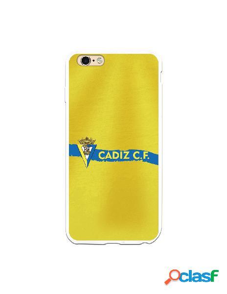 Carcasa para iPhone 6S Plus Cádiz CF Textura sobre Amarillo