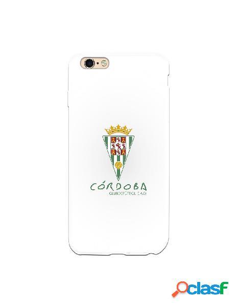 Carcasa para iPhone 6S Plus Córdoba CF Fondo Blanco -