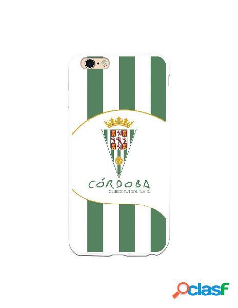 Carcasa para iPhone 6S Plus Córdoba CF Franjas Verdes y