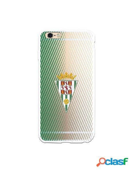 Carcasa para iPhone 6S Plus Córdoba CF Trazos Verde y