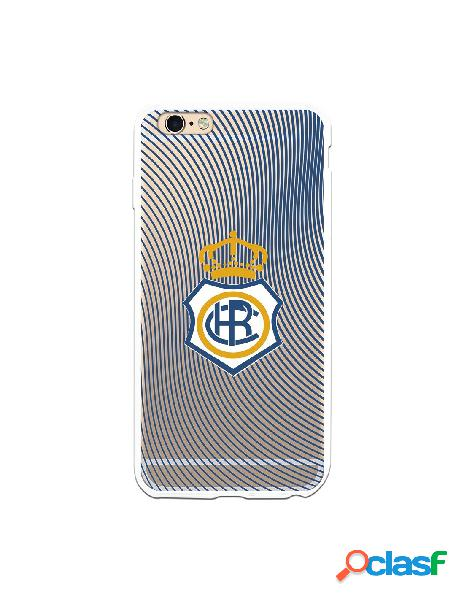 Carcasa para iPhone 6S Plus Recre Onda Azul Transparente -
