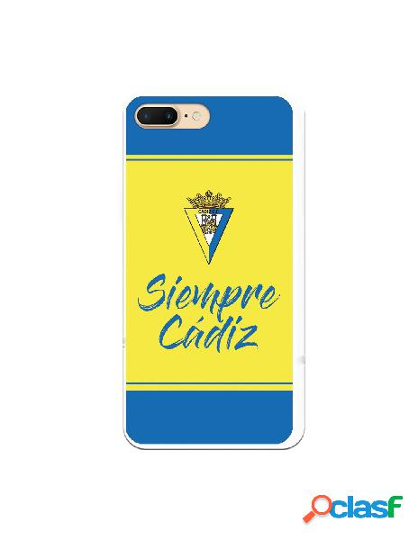 Carcasa para iPhone 7 Plus Cádiz CF Fondo Azul y Amarillo -