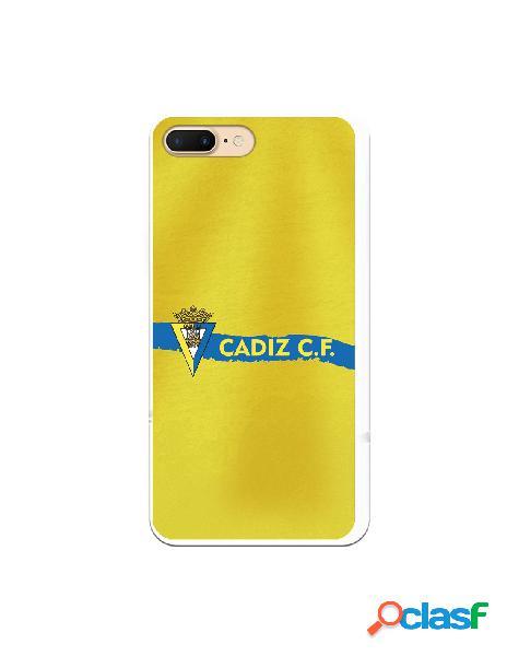 Carcasa para iPhone 7 Plus Cádiz CF Textura sobre Amarillo