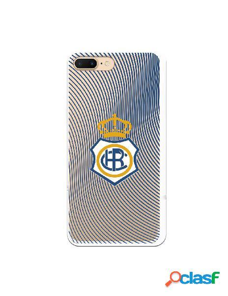 Carcasa para iPhone 7 Plus Recre Onda Azul Transparente -
