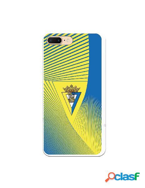 Carcasa para iPhone 8 Plus Cádiz CF Motivo Lineal -