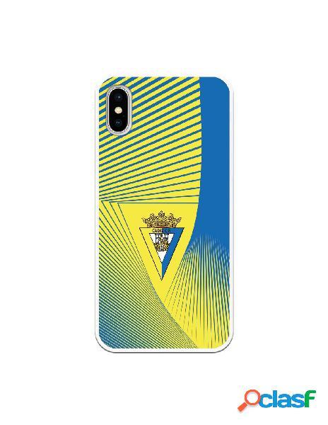 Carcasa para iPhone X Cádiz CF Motivo Lineal - Licencia