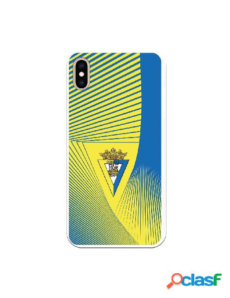 Carcasa para iPhone XS Max Cádiz CF Motivo Lineal -