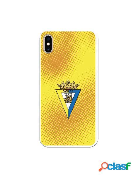Carcasa para iPhone XS Max Cádiz CF Semitono Puntos -