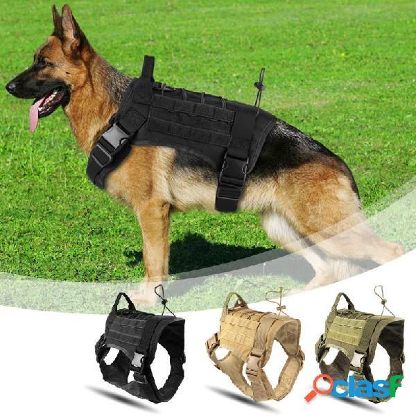 Caza Perro militar Chaleco táctico de camuflaje Pet Perro
