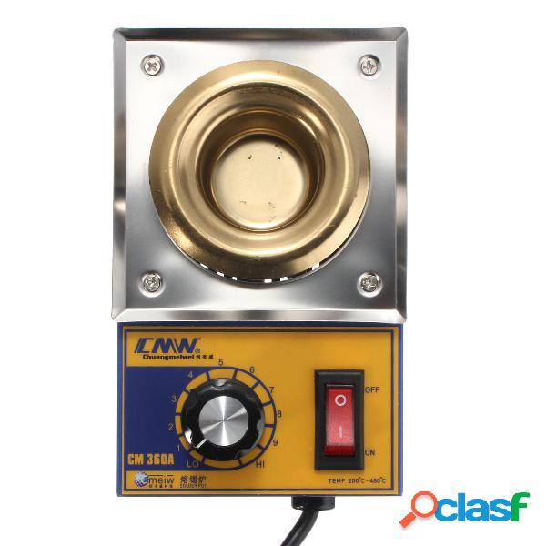 Cm360a placa de acero inoxidable 100w 200-480 grados crisol
