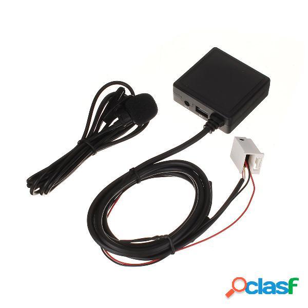 Coche bluetooth 5.0 HIFI AUX Micrófono Cable Audio Radio