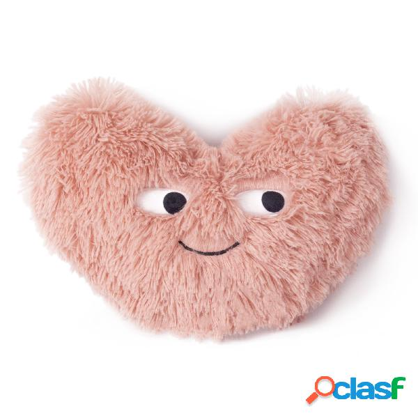 Cojín peludo con forma de corazón 2 caras