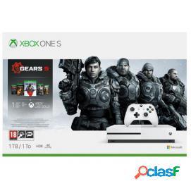 Consola Xbox One S 1TB Blanca + Gears Of War 5