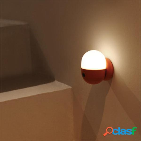 Cápsula LED Luz nocturna Protable PIR Movimiento Recargable