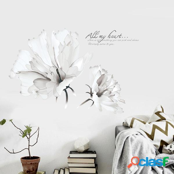 DIY 3D etiqueta de la pared cálida romántica flores de