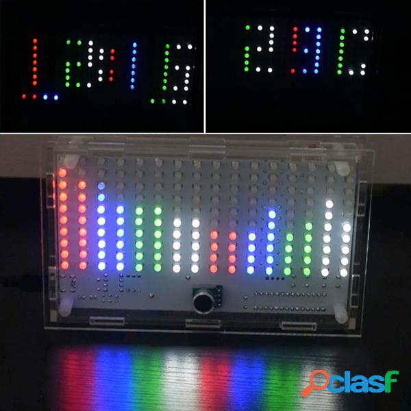DIY FFT1625 Digital Reloj Music Spectrum Kit Electrónico