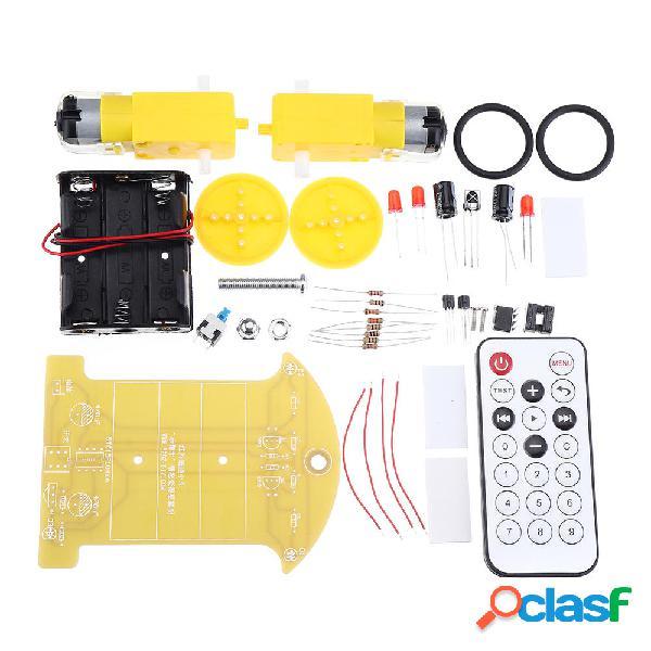 DIY Smart Coche Kit de infrarrojos Control remoto Coche
