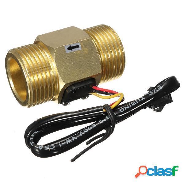 DN25 Sensor de Flujo de Agua de Cobre 4~45L/min de Salida de