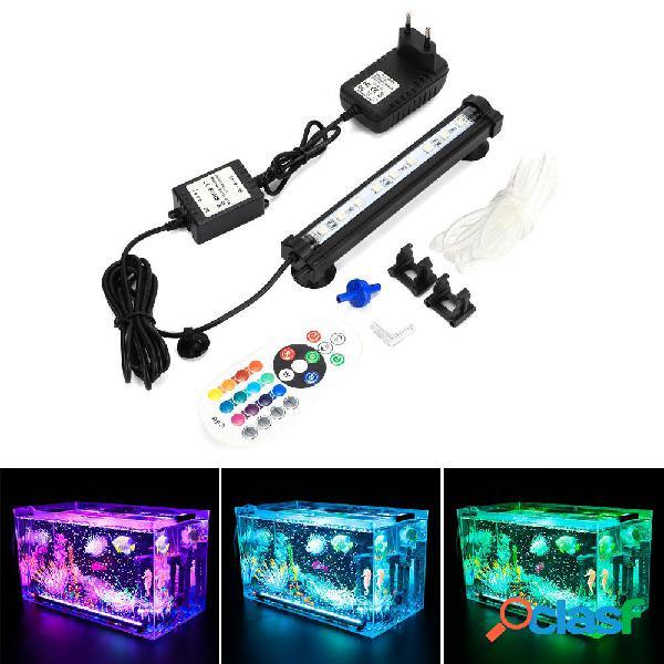 DOCEAN LED RGB Acuario Luz 18cm 16 Color RF Control remoto
