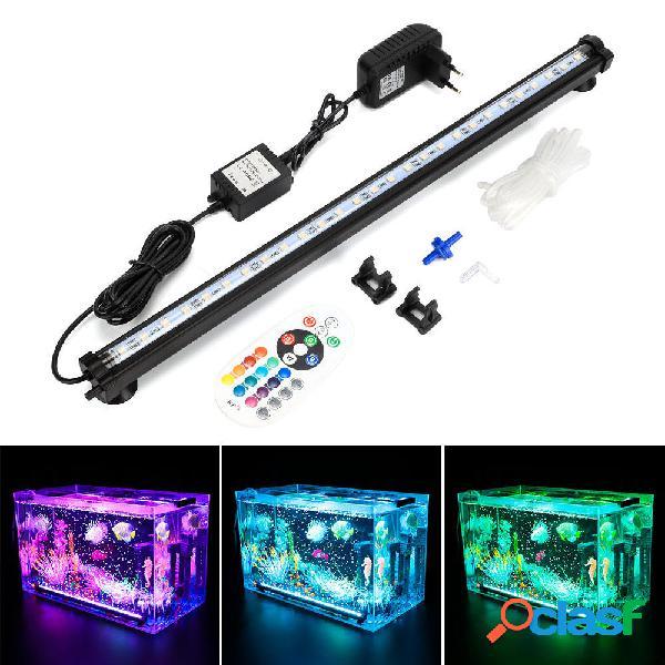 DOCEAN LED RGB Acuario Luz 48cm 16 Color RF Control remoto