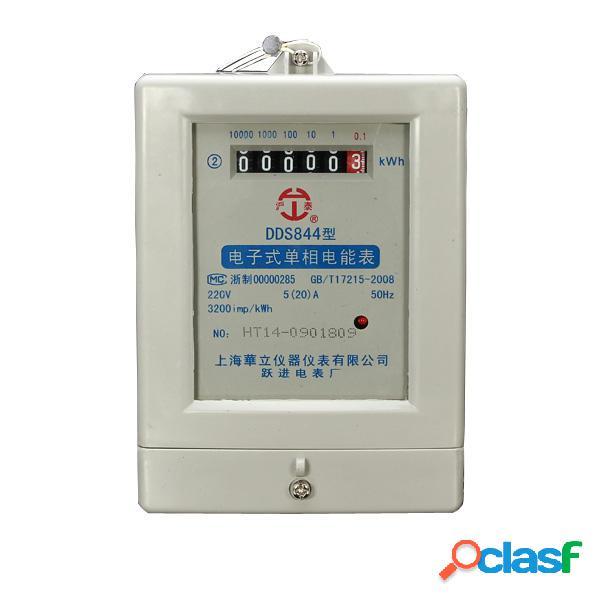 Dds844 5 (20) un 50hz 220v monofásico bifilar contador de
