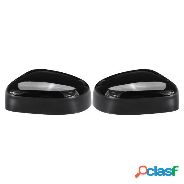 Derecha / Izquierda Gloss Black Coche Tapa de espejo de ala