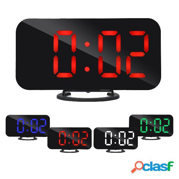Digital LED Espejo grande Pantalla Alarma Reloj Función de