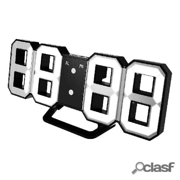 Digoo DC-K3 Multi-Función 3D Grande LED Reloj de Muro