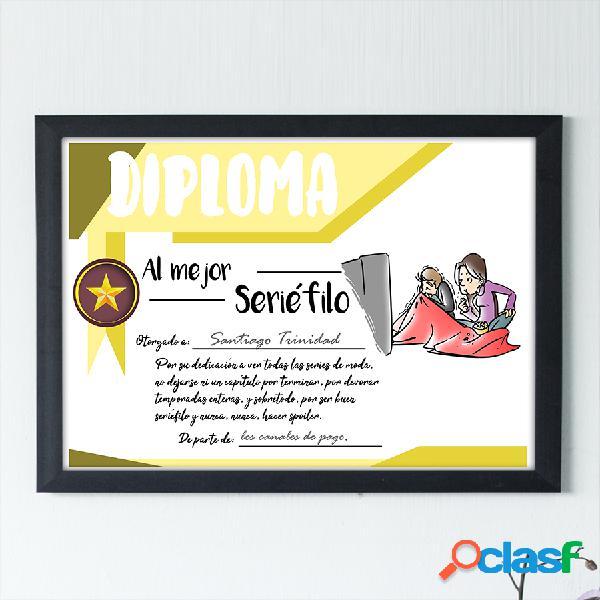 "Diploma personalizado ""Al mejor Seriéfilo"""