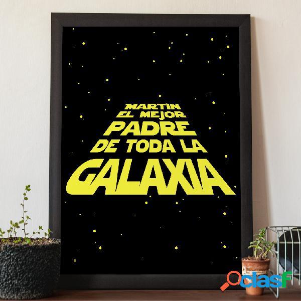 """Diploma personalizado """"El mejor padre de la Galaxia"""""""