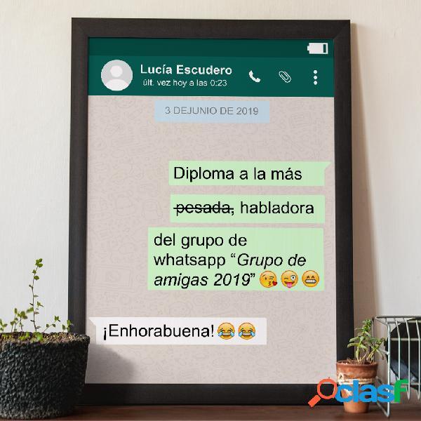 "Diploma personalizado ""Whatsapp"""