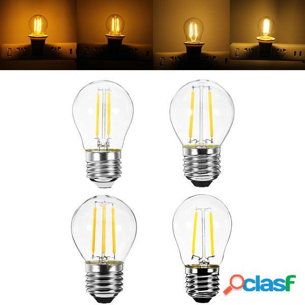 E27 G45 2W 4W amarillo cálido blanco Edison filamento