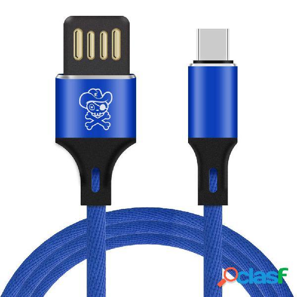 ENKAY 3A Micro USB Type-C Cable de datos de transmisión de