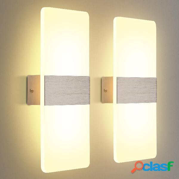 El paquete KINGSO 2 se aplica a la pared LED Lámpara