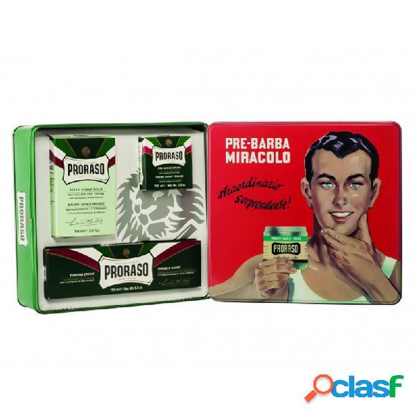 Estuche de regalo vintage para el afeitado