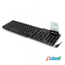 Ewent Teclado USB con Lector de Tarjetas Inteligentes