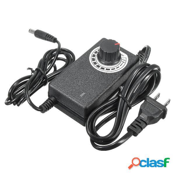 Excellway® 3-12V 2A 24W Adaptador de CA / CC ajustable
