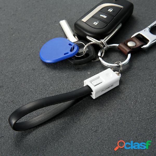 FLOVEME 20cm Llavero Cable de carga USB micro de carga
