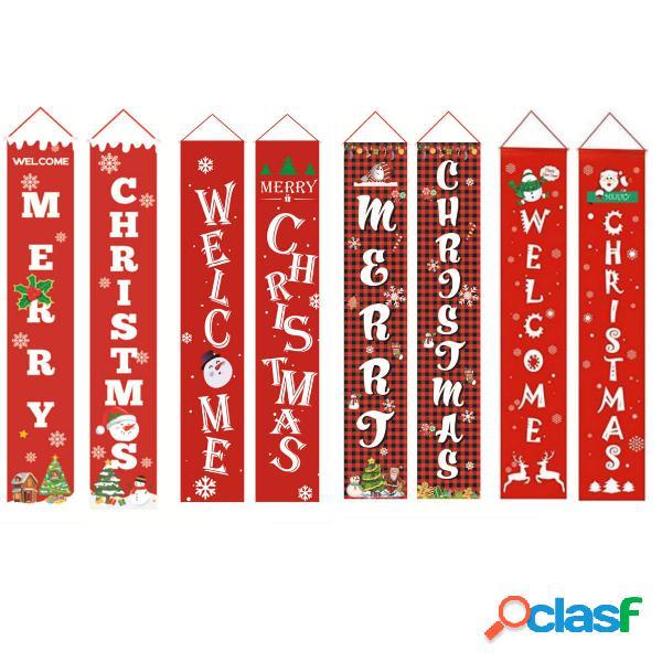 Feliz Navidad Porche Banner Navidad al aire libre