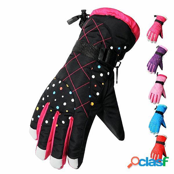Femeninos guantes de esquí al aire libre masculinos gruesos