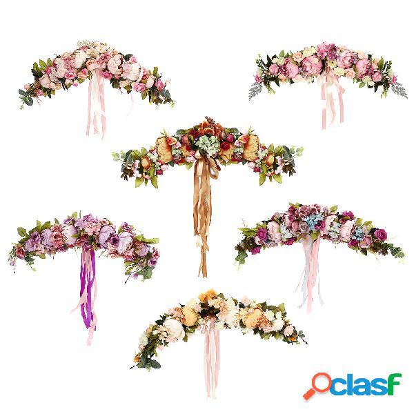 Flores Artificiales Guirnalda Europea Dintel Flor de Pared