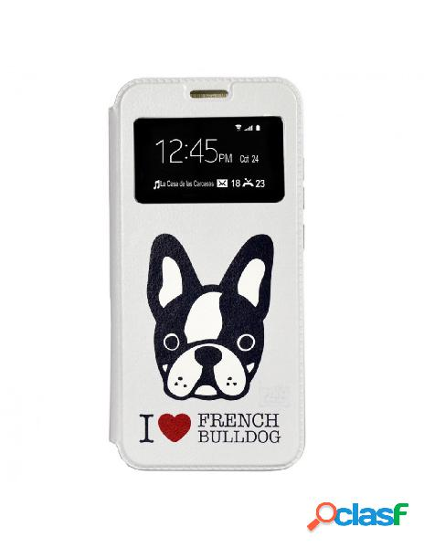 Funda Libro French Bulldog para Xiaomi Redmi Note 7 Pro