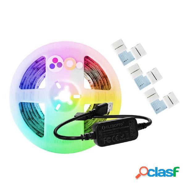 GLEDOPTO DC5V 2M USB RGB + CCT Smart TV Computadora LED Tira