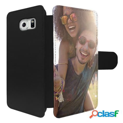 Galaxy S6 Edge Plus - Funda personalizada cuero tipo libro