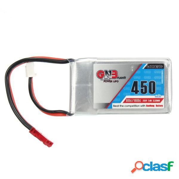 Gaoneng GNB 7.4V 450mAh 2S 80/160C Batería de Lipo JST