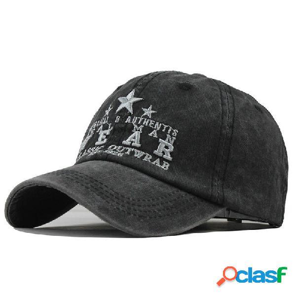 Gorra bordada con una letra unisex Gorra de béisbol vieja