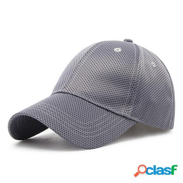 Gorras de béisbol de poliéster para mujer, malla